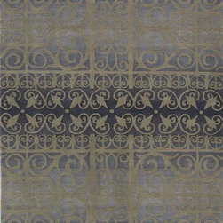 """Radiance RD-02 Slate Rug - 7'9""""Round - Royal is an elegant collection of traditional designs in a power-loomed construction of soft polypropylene. Old world motifs adorn these densely plush pieces that will add a rich touch to any dcor."""