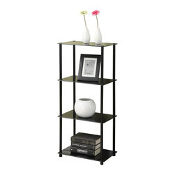 Convenience Concepts - Convenience Concepts 4 Tier Tower X-B100751 - Designs2Go&trade: Classic Glass 4-Tier Tower is the perfect complement to any living room d&#233:cor.  Featuring an open modern design that provides 4 spacious glass shelves for decoration, collections or art objects. Surely will provide years of enjoyment