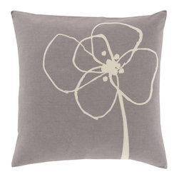 Stonewashed Floral Pillow - A sweet and delicate accent for your couch, chair, or bedspread, the Stonewashed Floral Pillow is made from 100% cotton and is sure to be soft on both your eyes and skin.