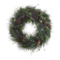 Silk Plants Direct - Silk Plants Direct Berries, Pine and Cone Wreath (Pack of 1) - Pack of 1. Silk Plants Direct specializes in manufacturing, design and supply of the most life-like, premium quality artificial plants, trees, flowers, arrangements, topiaries and containers for home, office and commercial use. Our Berries, Pine and Cone Wreath includes the following: