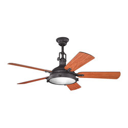Kichler Lighting - Kichler Lighting 300018DBK Hatteras Bay Indoor Ceiling Fans in Distressed Black - 56 Inch Hatteras Bay Fan