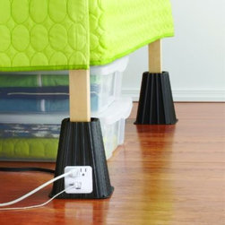 Int'l Sales/everyday Edison - 7-Inch Power Bed Riser (Set of 4) - A place for everything, and everything in its place - easier said than done in a tiny dorm room. But with a little ingenuity and the right tools, you can manage to store a lot more in your room than you'd think.