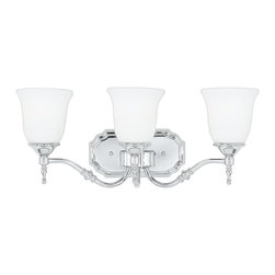 Quoizel - Quoizel TT8603C Tritan Transitional Bathroom / Vanity Light - This timeless fixture features lovely bellshaped shades that provide a bright, yet soft light, and the classic finish coordinates with many faucets styles.