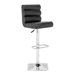 Zuo Modern - Zuo Modern Nitro Modern Barstool X-063103 - With its padded rolls and adjustable height, the Nitro barstool looks funky as it is functional. It has a chrome base with a footrest and leatherette wrapped seat.