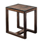Uttermost - Deni Wooden End Table - Light honey stain on solid mango wood, burnished with darkened edges and heavy distressing.