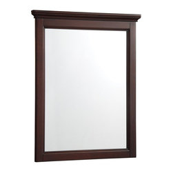 Hayneedle - Foremost AYTM2228 Amelyn Bathroom Mirror - Tobacco Multicolor - AYTM2228 - Shop for Bathroom Mirrors from Hayneedle.com! It s amazing how an elegant mirror like the Foremost AYTM2228 Amelyn Bathroom Mirror - Tobacco can enhance (and enchant) your entire bathroom decor. Non-beveled flat-edged glass is surrounded by a frame crafted of engineered wood solids and hardwood veneers.And this isn t any old frame - the crown molding along the top creates presence with panache and it s finished in a rich tobacco tone that looks great whether your bathroom wall is traditional white or the latest bold hue. Convenient mounting hooks come pre-attached too. Designed to coordinate with the Amelyn bathroom ensemble but a fashionable fit for any room -- bedroom hallway powder room and more.About Foremost Groups Inc.Established in 1988 based on simple strategies and principles Foremost remains dedicated to their mission of providing fashionable innovative designs and knowledgeable friendly customer service to their customers on a daily basis. Throughout the years Foremost has developed offices and distribution centers in the U.S. and Canada with four separate product divisions consisting of bathroom furniture indoor and outdoor furniture and even food service equipment. All of their products are proudly constructed with world class engineering and the best designs at an affordable price.
