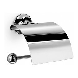 WS Bath Collections - Venessia 52907 Toilet Paper Holder - Vanessia by WS Bath Collections Toilet Roll Holder with Cover 6.3 x 5.7 x 3.2 in Polished Chrome