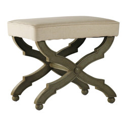 Zentique - Crescenzo Single Bench - Whether you need just a single seat or a place for two, this classic bench will give you endless options. Choose from a single or multiseat design and move this around the room for flexible seating arrangements. The single version is perfect for the living room, while the longer bench would be great at the end of the bed.