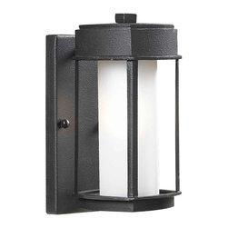 Modern Frame & Cylinder Outdoor Wall Light -