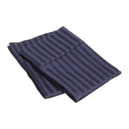 400 Thread Count Egyptian Cotton Standard Navy Blue Stripe Pillowcase Set - 400 Thread Count Egyptian Cotton Standard Stripe Navy Blue Pillowcase Set