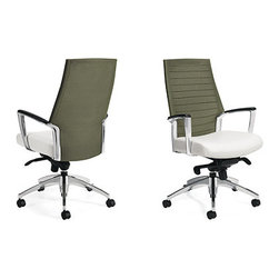 Global, Accord - Mesh Back Office Chair - Breathable Mesh Back (Ivy Moss)