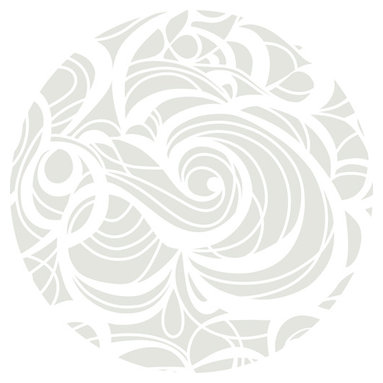 """Huddleson Linens - Silver Swirl Linen Tablecloth, 108"""" Round - Swirling, fluid two-color print in silver and white that grows, shrinks, curves and circles - but never ends.  Gives a beautiful flow and depth to your table decor.  Silver-grey and white linen tablecloth.  100% top quality, luxurious, soft Italian linen. Machine washable"""