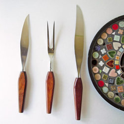 1950s Vintage Midcentury Modern Meat Carving Set by Recycled Wares - Everyone needs to invest in a great carving set. I am partial to the midcentury variety.