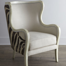 "Massoud ""Cartata"" Wing Chair -"