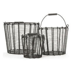 Wire Baskets - Pack of 3