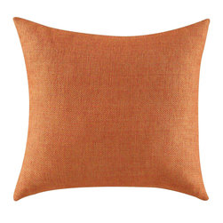 Coaster - Accent Pillow, Orange - Set of 2 - Make a bold statement in any room by accentuating your furniture with these bold solid colors, wild animal prints and geometric patterns.