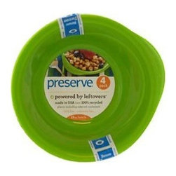 Preserve Everyday Bowls - Apple Green - Case Of 8 - 4 Pack - 16 Oz - Powered by Leftovers