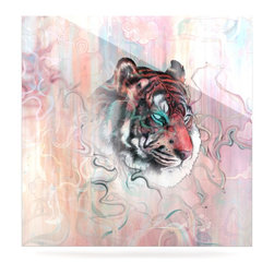 """Kess InHouse - Mat Miller """"Illusive by Nature"""" Metal Luxe Panel (8"""" x 8"""") - Our luxe KESS InHouse art panels are the perfect addition to your super fab living room, dining room, bedroom or bathroom. Heck, we have customers that have them in their sunrooms. These items are the art equivalent to flat screens. They offer a bright splash of color in a sleek and elegant way. They are available in square and rectangle sizes. Comes with a shadow mount for an even sleeker finish. By infusing the dyes of the artwork directly onto specially coated metal panels, the artwork is extremely durable and will showcase the exceptional detail. Use them together to make large art installations or showcase them individually. Our KESS InHouse Art Panels will jump off your walls. We can't wait to see what our interior design savvy clients will come up with next."""