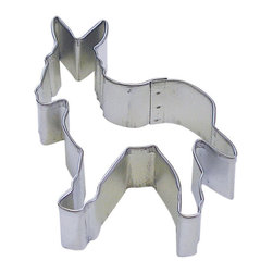 RM - Donkey 3.5 In. B1220X - Donkey cookie cutter, made of sturdy tin, Size 3.5 in., Depth 7/8 in., Color silver