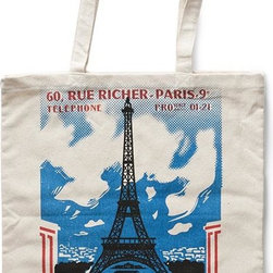 Home Decorators Collection - Travel Tote Bag - The vintage travel posters printed on our Travel Tote Bags highlight some of the most well-loved destinations in Europe. Choose from three designs: Italy, Paris or Britain. Cotton canvas. Available in three styles.