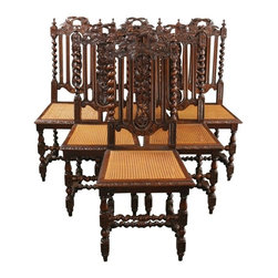 EuroLux Home - 6 Consigned Antique Renaissance Dining Chairs 1880 - Product Details