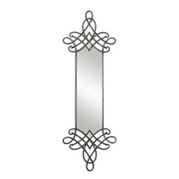 Uttermost - Celestia Forged Metal Mirror - This mirror looks like it's floating on your wall. It's beautiful enough to hang anywhere you have a small space. Or you could double up and make a statement by hanging them side-by-side in an entryway or living room.