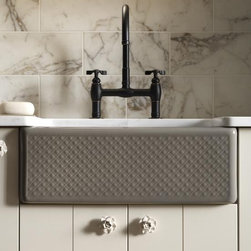 "KOHLER - KOHLER K-14572-T3-W2 Evenweave Design on Alcott Undercounter Sink in Earthen Whi - KOHLER K-14572-T3-W2 Evenweave Design on Alcott Undercounter Sink in Earthen WhiteDesign is rooted in the current movement of dynamic woven patterns found in leather accessories knitted clothing and other carved surfaces.Please see our Delivery Notes for Freight Shipments for products that are oversized and/or are too heavy to ship UPS ground. KOHLER K-14572-T3-W2 Evenweave Design on Alcott Undercounter Sink in Earthen White, Features:• 25""L x 22""W"