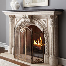 Traditional Indoor Fireplaces by Horchow