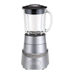 Cuisinart® SmartPower® Deluxe Blender - The deluxe model of Cuisinart's SmartPower blender has a die-cast metal housing, 600-watt motor, generous 48-oz. jar in shock-resistant borosilicate glass, and patented ultra-sharp stainless steel blade to tackle the toughest tasks. Touchpad controls for high, low, pulse or ice crush settings are easy to read and clean. Heavy-duty base is stable on the countertop. Tight-sealing lid has a convenient measured 2-ounce pouring cap.