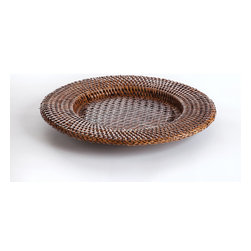 """Origin Crafts - Round rattan charger 13.5"""" - Round Rattan Charger 13.5 Dimensions (in):13.5 x 13.5 x 1 By Napa Home & Garden - Napa Home & Garden is a wholesale manufacturer of distinctive home & garden decorative accessories. Ships within Five Business Days. Please be aware that some products are handmade and unique therefore there may be slight variations in each individual product."""
