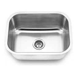 YOSEMITE HOME DECOR - Yosemite Home Decor MAG2318 18-Gauge Stainless Steel Undermount Kitchen Sink - These high quality Yosemite sinks are a heavy gauge, type 304 (18/8), surgical grade, stainless steel for maximum durability - 18-Percent chromium (for shine) and 8-Percent nickel (for rust resistance). Stainless steel is an extremely durable surface; it can, however, be scratched or scuffed. When scuffing does occur, please remember that this is normal and the effect will become uniform with age. The high quality stainless steel does not lose its attractive shine.