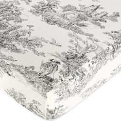 Black Toile Print Crib & Toddler Sheet by Sweet Jojo Designs