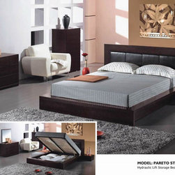 Unique Leather Platform Bedroom Furniture Sets - Pareto elegant wenge solid wood bedroom set. This price is given for Full Size Bedgroup.