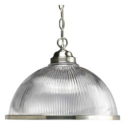 Progress Lighting - Progress Lighting P5103-09 Prismatic Glass 1 Light Pendant Light - Progress Lighting P5103-09 Prismatic Glass 1 Light Pendant Light In Brushed Nickel