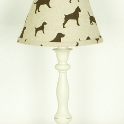 Cotton Tale Designs - Houndstooth Std. Lamp and Shade - A quality baby bedding set is essential in making your nursery warm and inviting. All N. Selby patterns are made using the finest quality materials and are uniquely designed to create an elegant and sophisticated nursery. The Houndstooth Lamp and Shade is in pup fabric with the standard ivory lamp base. Manufacturer recommends no more than a 60 watt bulb. Spot clean only. Perfect for a boy or a girl.