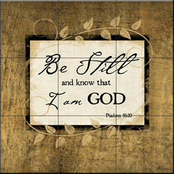 The Tile Mural Store (USA) - Tile Mural -  Be Still  - Kitchen Backsplash Ideas - This beautiful artwork by Jennifer Pugh has been digitally reproduced for tiles and depicts a nice inspirational themed mural.    This Inspirational/Religious themed tile mural is perfect to add interest to your kitchen backsplash tile project. Inspirational images on tile are timeless and make an impressive tile mural for your kitchen backsplash or any wall in your home.