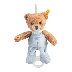 Steiff - Steiff Sleep Well Bear with Music Box - Steiff Sleep Well Bear Music Box is made of plush for baby-soft skin. Steiff Sleep Well Bear Music Box has a removable music box. Machine washable without the music box. Handmade by Steiff of Germany.