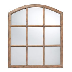 Sterling Industries - Sterling Industries DM2022 Union Wood Mirror In Faux Window Design & Natural Oak - Mirror (1)
