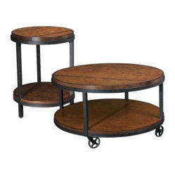 Hammary Baja 2-Piece Round Coffee Table Set