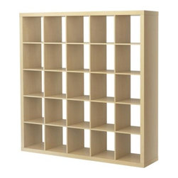 Expedit Shelving Unit, Birch Effect - Create privacy in a studio with a room divider like this shelving unit. It also serves as a bookshelf and area to display your favorite decor.