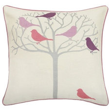 Modern Decorative Pillows Thomas Paul Tweeter Violet Linen Pillow