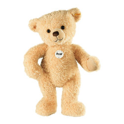 Steiff - Steiff Kim Teddy Bear - Steiff Kim Teddy Bear is made of cuddly soft beige plush. Machine washable. Ages 3 and up. Handmade by Steiff of Germany.
