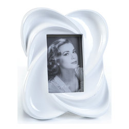 "Concepts Life - Concepts Life Photo Frame  Warm Embrace  4x6"" - Looking to frame a memorable snapshot? Look no further than our warm embrace collection. This white frame with a beautiful glossy finish adds style to any mantle or table top. This quintessential frame for engagement and bridal photos is also an elegant gift for any housewarming.  Modern home accent Contemporary white picture frame Beautiful and elegant home accent Rectangular photo frame Made of polyresin Textured finish Easel back for horizontal or vertical display Various sizes available Holds 4 x 6 in. size photo Dimensions: 9""w x 10""h x 2""d Weight: 2 lbs"