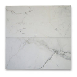 Stone Center Corp - Calacatta Gold Marble Subway Tile 12x24 Honed - Premium Grade Calacatta Marble Italian Calcutta Gold (Calcutta Oro and Calcutta Borghini) Honed 12 x 24 Wall & Floor Tiles are perfect for any interior/exterior projects such as kitchen backsplash, bathroom flooring, shower surround, countertop, dining room, hall, lobby, corridor, balcony, terrace, spa, pool, etc. Our large selection of coordinating products is available and includes hexagon, herringbone, basketweave mosaics, 12x12, 18x18, 24x24 tiles, moldings, borders, and more.