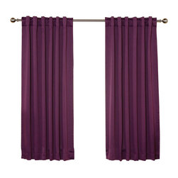 "Best Home Fashion - Solid Backtab Thermal Insulated Blackout Curtains - 1 Pair, Purple, 63"" - Best Home Fashion introduces the new Blackout Curtain. It features innovative fabric construction. Compared to other curtains, our product is extremely SOFT and DRAPERY. The sophisticated designs allow you to decorate your windows with great style. NEVER compare our Blackout Curtains with those cheap ones that are stiff and look like a shower curtain. Blackout is perfect for : Late sleepers Shift workers Seniors Infants & parents Students Computer operators Care instruction : -Machine wash warm with like colors. -Use only non-chlorine bleach when needed. -Tumble dry low. -Warm iron as needed"