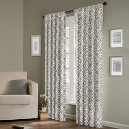 Madison Park - Madison Park Ella Curtain Panel - Add texture to your window treatments with this elegant curtain panel from Madison Park. It comes unlined,which allows plenty of natural light to filter in,and it comes in three different fashion colors to coordinate with your room.
