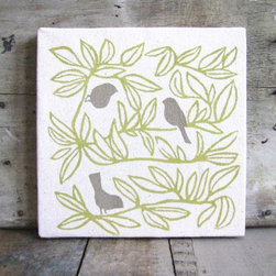 Flock Together Canvas Screen Print -
