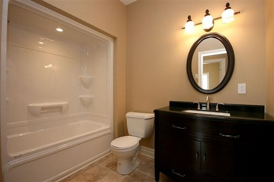 Black And Tan Bathroom: Our Bathroom Will Be Very Similar To This One Except The