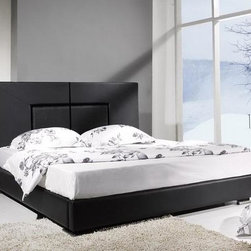 Iris Furniture - Raffi Modern Leather Bed Frame - Sleek eye-catching contemporary style with a stately profile is sure to be the perfect centerpiece to your bedroom decor in the Raffi Modern Leather Bed Frame.