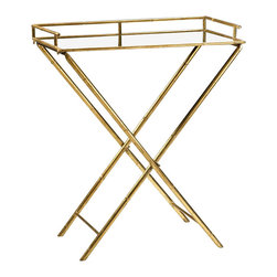 Cyan Design - Bamboo Tray Table-04445 - Bamboo tray table - gold leaf